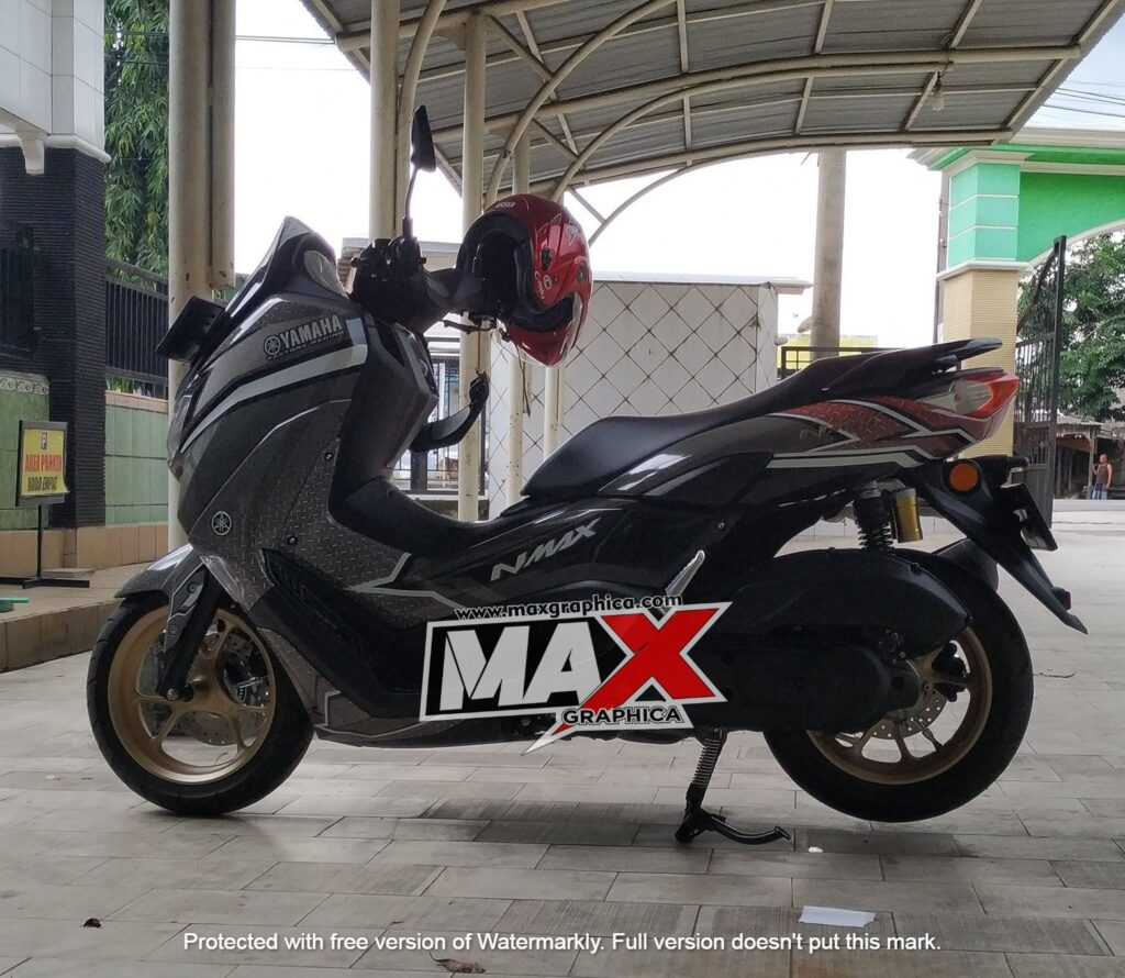 decal nmax grey maxgraphica cutting sticker sidoarjo